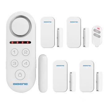 Kit de sistema de alarma de control de acceso Bibiene soporte 4 zonas