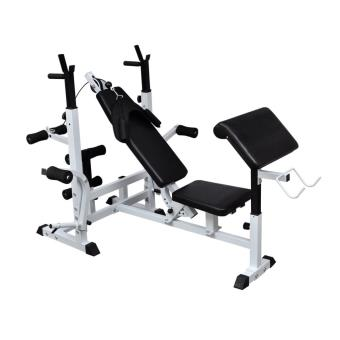 Banco de musculación con pesas