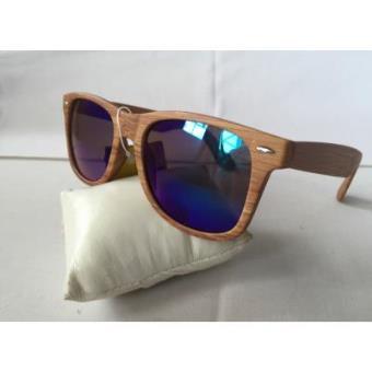 9a77f4e906 Gafas de sol modelo wayfarer estilo vintage madera marron cristal espejo  retro, Gafas de sol, Los mejores precios | Fnac