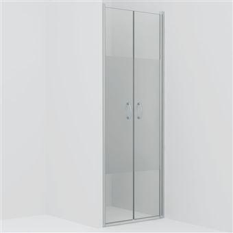 Puertas de ducha vidaXL ESG medio esmerilado 90x180 cm
