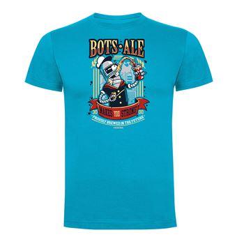 Camiseta manga corta Friking, Modelo 987 Futurama, Bots Ale Talla L, Turquesa