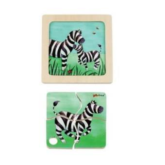 Mini Puzzle Madera Zebra