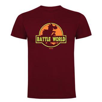Camiseta manga corta Friking, Modelo 690 Battle World, Talla L, Burdeos