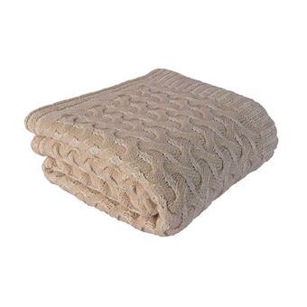 Tartán Homemania Softy 2 Beige 130x170 cm