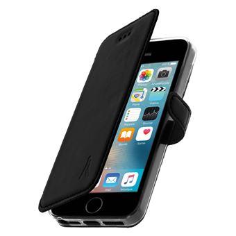4b2fbe55d73 Funda iPhone 5 / 5S / SE Cartera de piel Función soporte Akashi - Negra -  Fundas y carcasas para teléfono móvil - Los mejores precios | Fnac