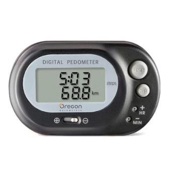 Podómetro Digital con Reloj Digital (Negro)