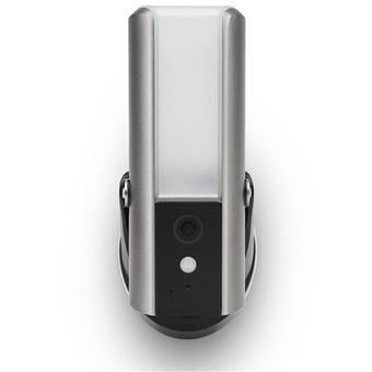 Lámpara pared exterior SecuFirst, cámara de seguridad Gris LCA230