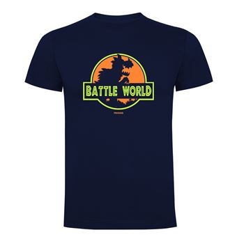 Camiseta manga corta Friking, Modelo 690 Battle World, Talla L, Navy