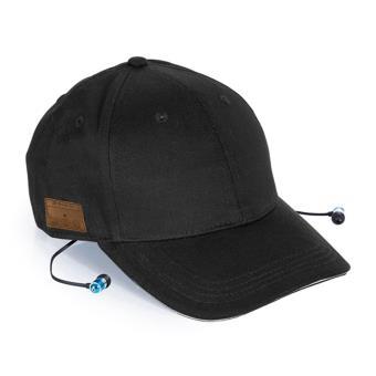 Phoenix Technologies PHCAPBTB - Gorra deportiva con auriculares incorporados (Bluetooth, algodón, transpirable), color negro