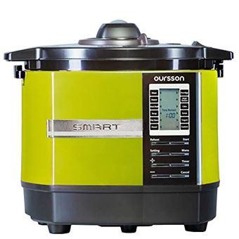 Robot de cocina Oursson multifunción de alta presión, 45 programas automáticos, capacidad de 5 L, recubrimiento antiadherente, libro de recetas, MP5005PSD/GA