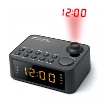Muse - M-178 p Reloj Digital Negro Radio