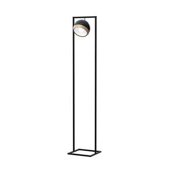 Lámpara de Piso Homemania Oval Negro, Madera L25xP20xA150 cm