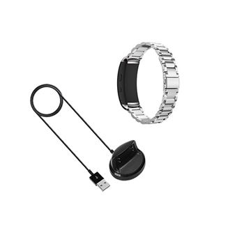 Kit Pulsera Acero Stainless Lux + Herramienta + Cargador Usb Charger Samsung Gear Fit 2 Cinza