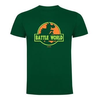 Camiseta manga corta Friking, Modelo 690 Battle World, Talla L, Verde