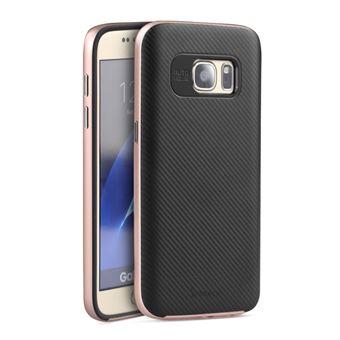 b94782ed870 Funda híbrida Ipaky para Samsung Galaxy S7 carcasa bumper premium, Color:  Oro Rosa - Fundas y carcasas para teléfono móvil - Los mejores precios    Fnac