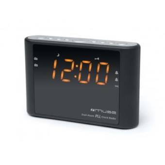 Muse - M-175 cr Reloj Digital Negro Radio