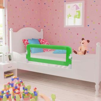 Barandilla de seguridad infantil para la cama vidaXL, Color Verde 102 x 42 cm