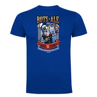 Camiseta manga corta Friking, Modelo 987 Futurama, Bots Ale Talla 2XL, Royal