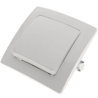 Pulsador empotrable con marco BeMatik 80x80mm serie Lille de color blanco