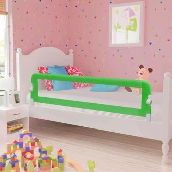 Barandilla de seguridad infantil para la cama vidaXL, Color Verde 150 x 42 cm