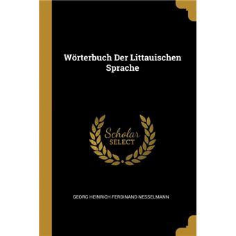 Serie ÚnicaWörterbuch Der Littauischen Sprache Paperback