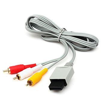 Cable AV 3 RCA Video Audio Compuesto para Consola Nintendo Wii WiiU U Nuevo