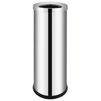 Cubo de basura para hotel de acero inoxidable 32 L vidaXL