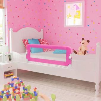 Barandilla de seguridad infantil para la cama vidaXL, Color Rosa 102 x 42 cm