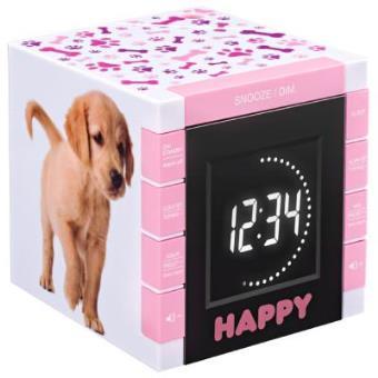Reloj Despertador con Proyector, Diseño Perritos-bigben Rr70pdogs2