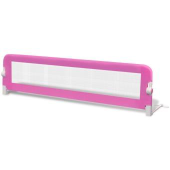 Barandilla de seguridad infantil para la cama vidaXL, Color Rosa 150 x 42 cm