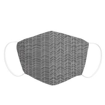 Mascarilla Adulto Pekebaby de tela reutilizable 2 capas + bolsillo con 1 filtro incluido, diseño 015 TRIANGLE