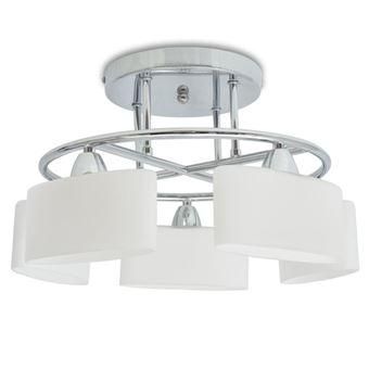 Lámpara de techo vidaXL, pantalla cristal elipse 5 bombillas E14 200 W