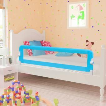 Barandilla de seguridad infantil para la cama vidaXL, Color Azul 150 x 42 cm