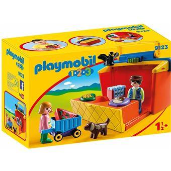 Playmobil 1.2.3 - Mercado Maletín, única (9123)