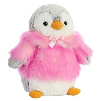 Peluche Pinguino Pompon Rosa Soft 28cm