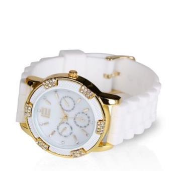 Reloj de silicona ROYAL -blanco y dorado- Reloj Mujer Moda - Los mejores  precios  3179edb836a9