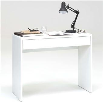 Escritorio FMD, cajón ancho Blanco 100x40x80 cm 362-001