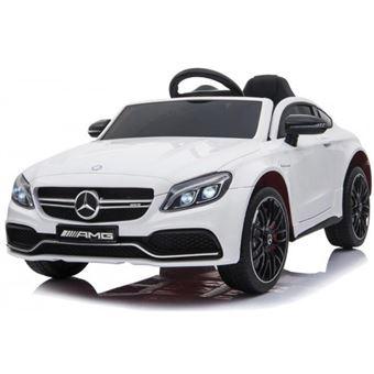 Coche Eléctrico Mercedes C63 Blanco  Motoor Kids