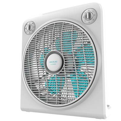 Ventilador de Suelo Cecotec ForceSilence 6000 PowerBox 5 aspas, 50W, 3 velocidades, Blanco