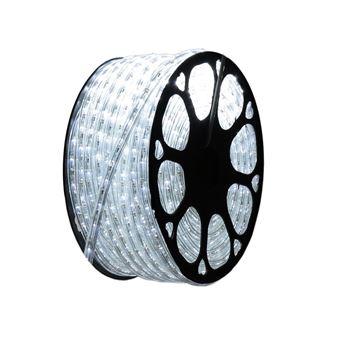 Hilo luminoso LED para decoración de color blanco frío, bobina 50m