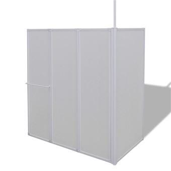 Mampara de ducha vidaXL, 4 paneles plegables y toallero