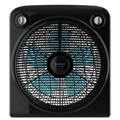 Ventilador de Suelo Cecotec ForceSilence 6000 PowerBox 5 aspas, 50W, 3 velocidades, Negro