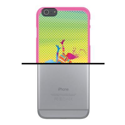 0f75c1ee6fa Funda iPhone 6 Plus | 6S Plus, WoowCase Funda Silicona Gel Flexible Chicas  Bailando con Manchas de Color Fondo Multicolor, Carcasa Case - Rosa - Fundas  y ...