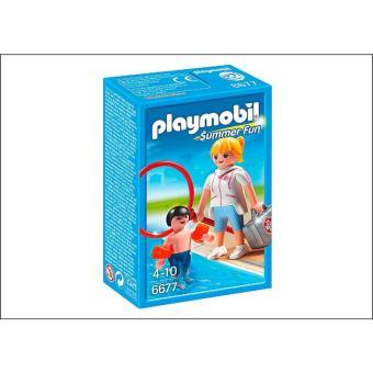PLAYMOBIL 6677 Summer Fun - Campeona de natación con niño