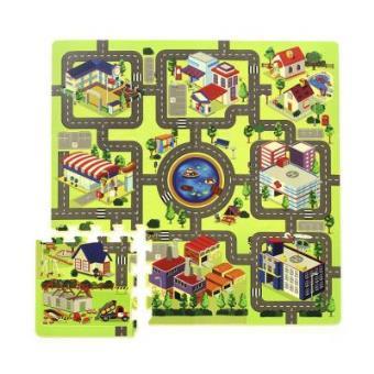 Alfombra carretera espuma alfombras infantiles los - Alfombras puzzle infantiles ...