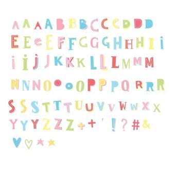 85 Letras Y Símbolos Pastel Funky Color A Little Lovely Company