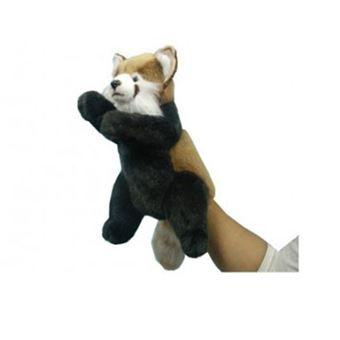 Peluche Hansa, Modelo  Marioneta Panda Rojo 20cm
