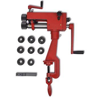 Máquina portátil moldeadora de tubos vidaXL