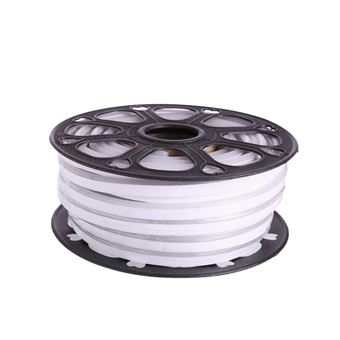 Tira LED NEON flexible 25m, Color luz blanca fria 12VDC 8 * 16mm, corte 2,5cm, 120 led/m SMD2835