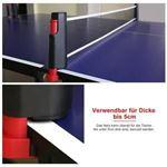Soporte de red de mesa de ping pong duradero y liviano (negro y rojo)